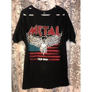 Windsor Metal slashed T-shirt dress